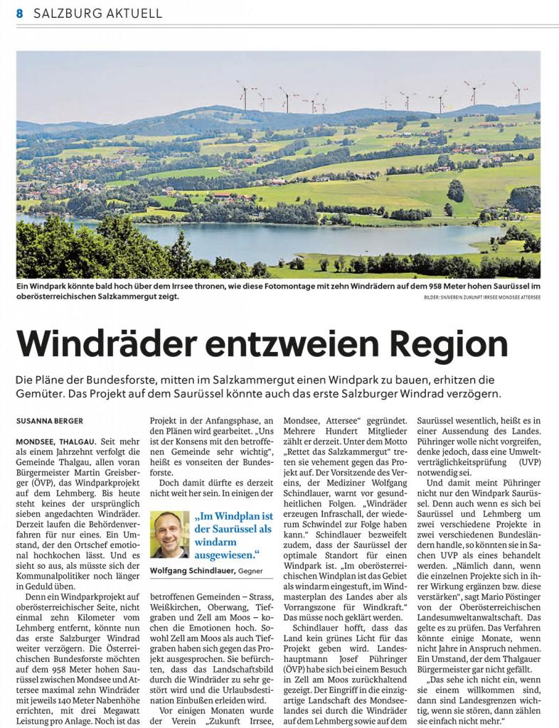 Salzburger Nachrichten 18.08.15