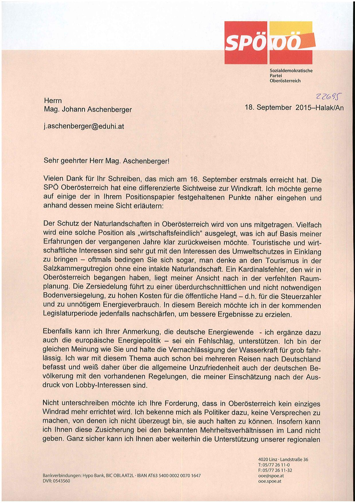 Stellungnahme SPÖ 1